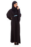 Arabian woman cell phone Stock Photography