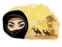 Arabian woman in the desert Stock Image