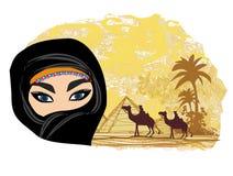 Arabian woman in the desert Stock Image