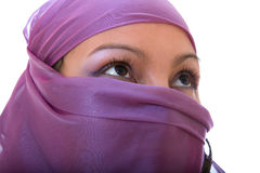 Arabian woman with her face covered Royalty Free Stock Photo