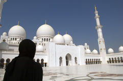 Arabian woman at Mosque Royalty Free Stock Photography