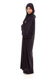 Arabian woman portrait. Portrait of happy young arabian woman on white background Stock Photos