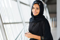 Arabian woman smart phone Stock Photography