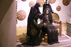 The Arabian Women life of desert Bedouins - Egypt. The life of desert Bedouins in Museum of Nubia Egypt Egypt, Aswan, Ancient Antiques at Museum of Nubia Egypt Royalty Free Stock Photo