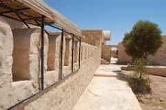 Arabic двора в после полудня желтого камня Стоковое фото RF