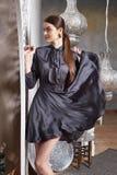 Arabic Марокко стиля красивых сексуальных волос брюнет женщины восточный Стоковые Изображения RF