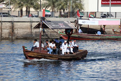 Arabic Abra Taxi at Dubai Creek Stock Photos