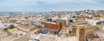 The Arabic Africa. The old Sousse is the typical arabic town with the inner fortress and huge ramparts, surrounded its historical site, Tunisia Stock Photography