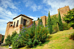 Arabic Alcazaba of Malaga, Andalucia, Spain Stock Photos