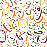 Arabic alphabet background stock illustration