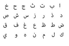Arabic alphabet Royalty Free Stock Photo