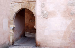 Arabic arch door in Granada Royalty Free Stock Photography