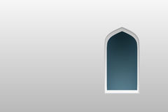 Arabic arch windows and doors ,  silhouettes Stock Images