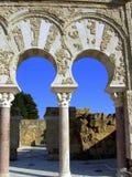 Arabic arches. Of Medina Azahara royalty free stock image