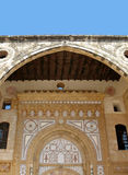 Arabic Arches. An ornate entrance door of a palace in Lebanon Stock Photos