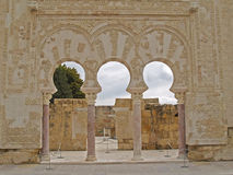 Arabic arches. Of Medina Azahara Stock Images