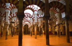 Arabic arches hallway Royalty Free Stock Images