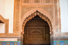 Arabic architecture. Architectural detail of the buildings arabe marrakesh Stock Images