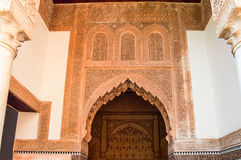 Arabic architecture. Architectural detail of the buildings arabe marrakesh Royalty Free Stock Photo