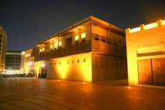 Arabic architecture. Old town with arabic architecture in Dubai, UAE Royalty Free Stock Image