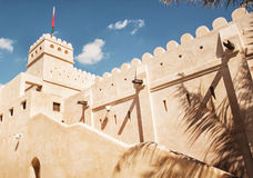 Arabic architecture, outdoor scene of fort Royalty Free Stock Image