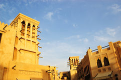 Arabic architecture during sunset. Dubai, UAE Stock Photo