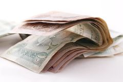 Arabic bank notes Stock Images