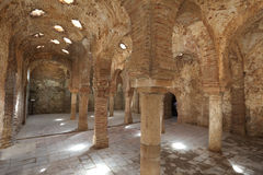 Arabic Bath Ruin in Ronda, Spain Stock Image