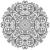 Arabic Batik Circle Floral Pattern Ornament Stock Photos
