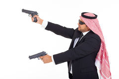 Arabic bodyguard guns Stock Image