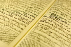Arabic book. An old arabic text, islamic knowledge Stock Images