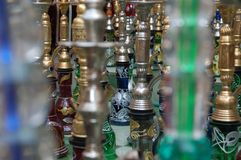 Arabic bottles Royalty Free Stock Photos