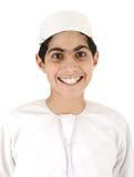 Arabic boy smiling. On white background Royalty Free Stock Image