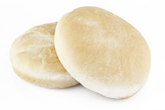Arabic bread. Over white background Stock Photo