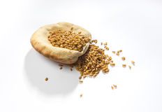 Arabic bread and wheat. Stock Photos