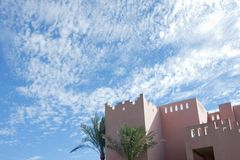 Arabic building under the skies Stock Photos