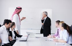 Arabic business man at meeting Royalty Free Stock Image