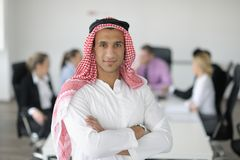 Arabic business man at meeting Royalty Free Stock Photos