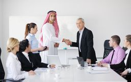 Arabic business man at meeting Royalty Free Stock Images