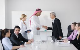 Arabic business man at meeting Stock Photos