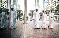 Arabic business men spending together Stock Photos