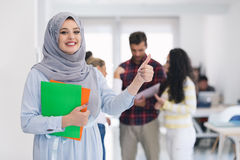 Arabic business woman working in team