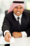 Arabic businessman card Stock Photography