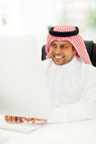 Arabic businessman working Stock Photo
