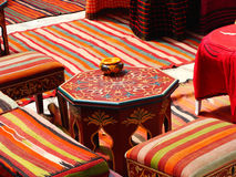 Arabic cafe. Typical interior of a small Arabic restaurant Stock Photography
