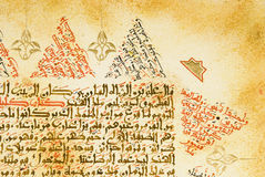 Arabic Calligraphy manuscript on paper stock image