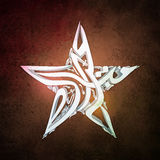 Arabic Calligraphy in Star shape for Eid celebration. 3D Arabic Islamic Calligraphy of text Eid Mubarak in Creative Star Shape on abstract grungy background Royalty Free Stock Photos