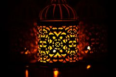Arabic candlelight lamp Royalty Free Stock Image