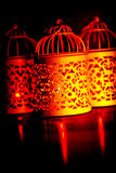 Arabic candlelight lamp Royalty Free Stock Images