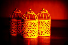 Arabic candlelight lamp Royalty Free Stock Photo
